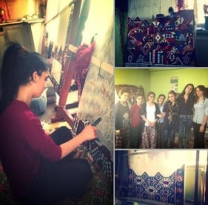 Begum in Van, Turkey with students at the workshop, 2015