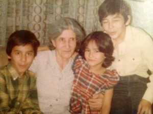 1982 - Tehran - With my grandmother & brothers at my 9th birthday party.